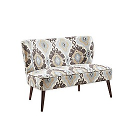 Madison Park Whithall Settee in Brown