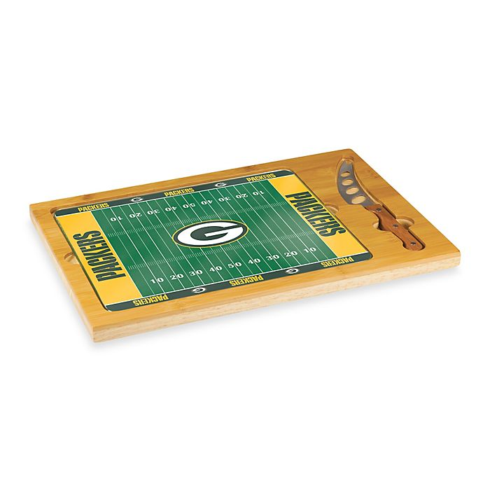 Alternate image 1 for Picnic Time® NFL Green Bay Packers Icon Wood Cutting Board Set