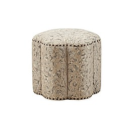 Madison Park Hyde Accent Ottoman in Tan