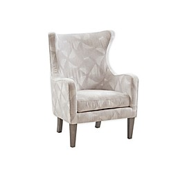 Madison Park Slade Accent Chair in Light Grey