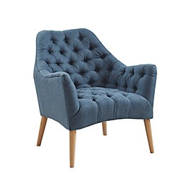 Madison Park Sven Tufted Accent Chair in Blue