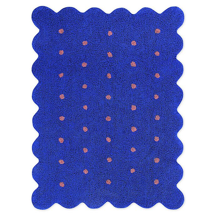 Alternate image 1 for Marmalade™ Biscuit 4' x 5'3 Hand Tufted Washable Area Rug in Blue