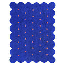 Marmalade™ Biscuit 4' x 5'3 Hand Tufted Washable Area Rug in Blue