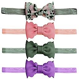 Tiny Treasures 4-Pack Scalloped Bow Headbands