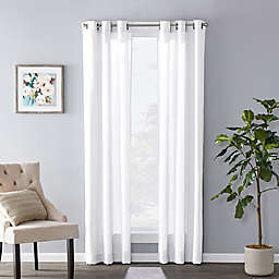 Sunsafe™ Raine 63-Inch Grommet Window Curtain Panel in White