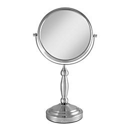 Zadro™ 10X/1X Vanity Swivel Mirror in Satin Nickel