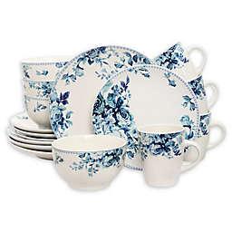 Elama Bloom 16-Piece Dinnerware Set