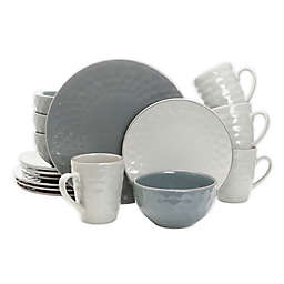 Elama Midnight Pearl 16-Piece Dinnerware Set