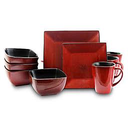 Elama Red Velvet 16-Piece Dinnerware Set