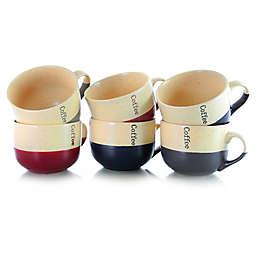 Elama Latte Loft Coffee Mugs (Set of 6)