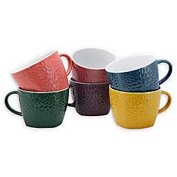 Elama Rainbow Coffee Mugs (Set of 6)