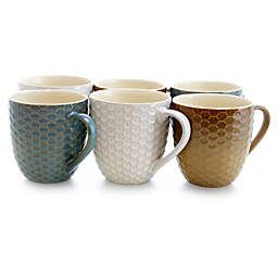 Elama Drips Bee Coffee Mugs (Set of 6)