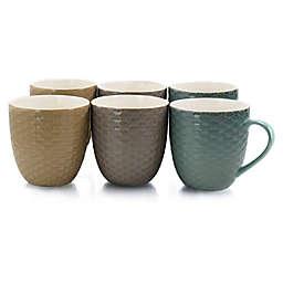 Elama Icicle Coffee Mugs (Set of 6)