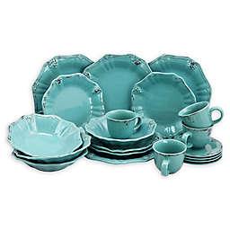 Elama Lobelia 20-Piece Dinnerware Set in Turquoise
