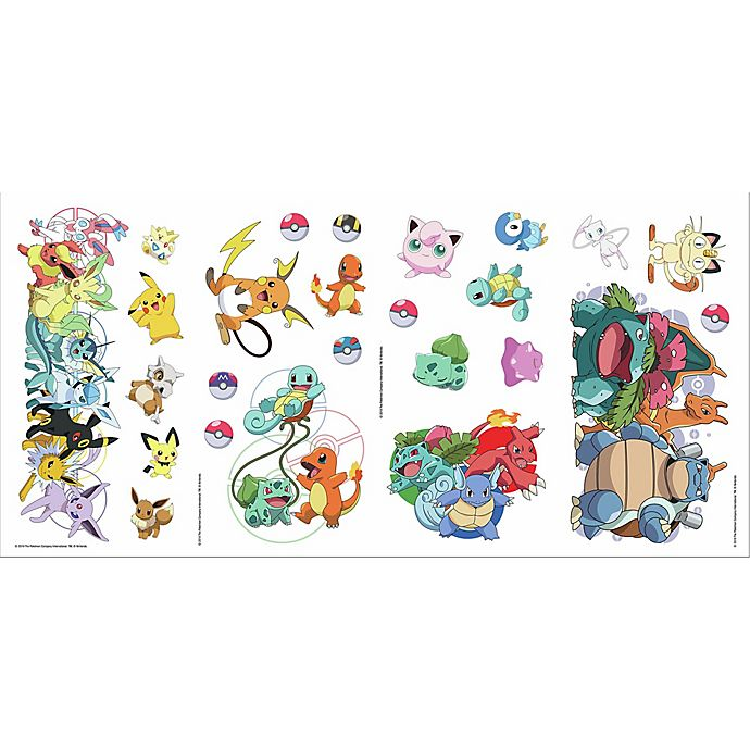 Alternate image 1 for RoomMates® Pokemon Favorite Character 25-Piece Peel & Stick Decals Set