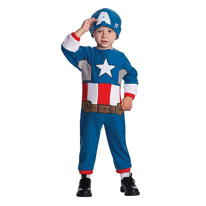 Alternate image 1 for Marvel® 2-Piece Captain America Toddler Halloween Costume