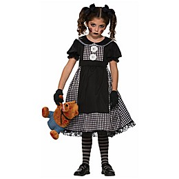 Large Dark Rag Doll Child's Halloween Costume