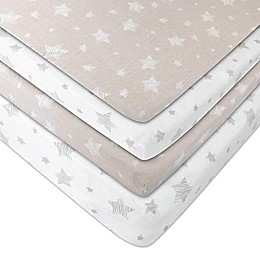 Ely's & Co. Cotton Pack N' Play Portable Crib Sheets (2 Pack)