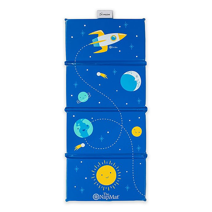 Alternate image 1 for Uber Mom Blue Space Nap Mat