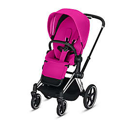 CYBEX e-PRIAM Chrome Stroller in Black/Pink