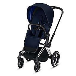 CYBEX e-PRIAM Chrome Stroller in Black/Blue