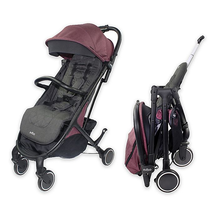 Alternate image 1 for Evezo Channy Single Lightweight Stroller in Plum