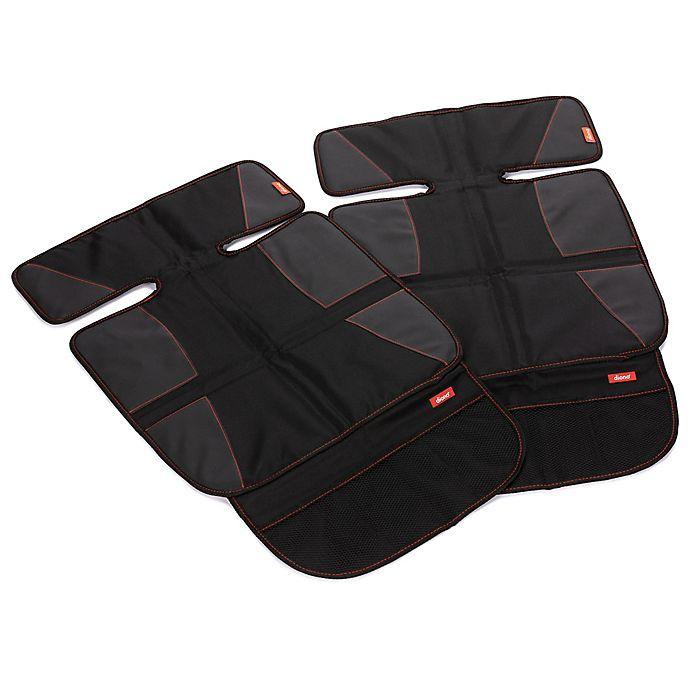 Alternate image 1 for Diono® super mat™ Car Seat Protectors in Black (Set of 2)