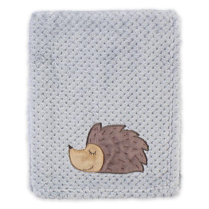 Alternate image 1 for Hudson Baby® Plush Waffle Toddler Blanket in Grey Hedgehog