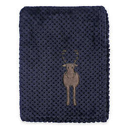Hudson Baby® Plush Waffle Toddler Blanket in Blue Moose