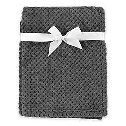 Hudson Baby® Plush Waffle Toddler Blanket in Charcoal