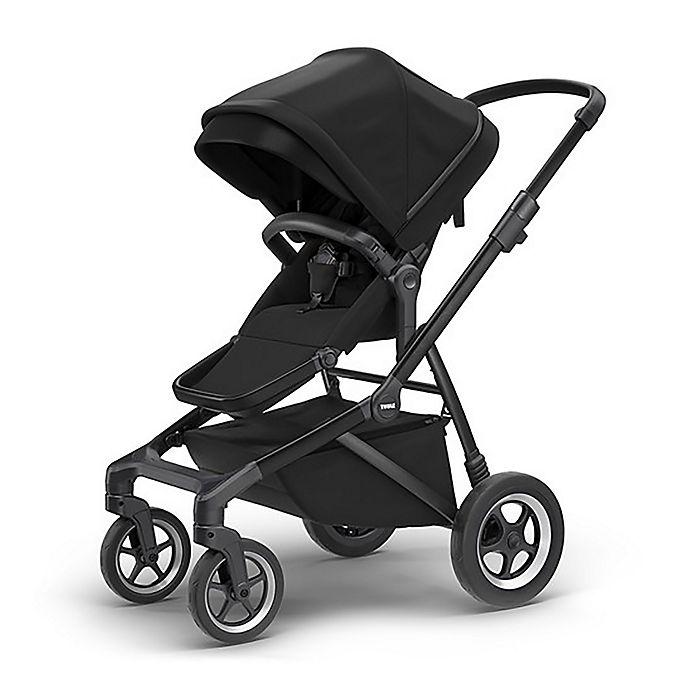 Alternate image 1 for Thule Sleek Convertible Stroller in Black on Black