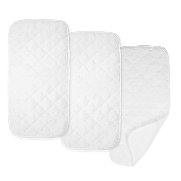 Alternate image 1 for TLCare® Waterproof 3-Pack Playard Changing Table Pad Liners in White