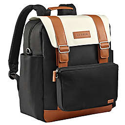 JJ Cole® Solids Convertible Diaper Backpack in Onyx