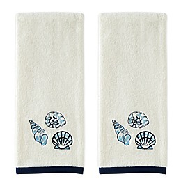 Spring Shells 2-Piece Hand Towel Set in Ivory
