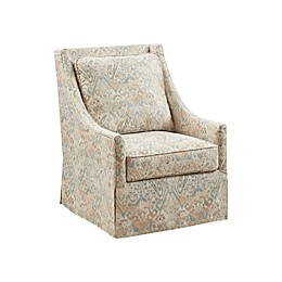 Madison Park Darby Swivel Glider Chair in Natural