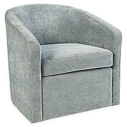 Martha Stewart Amber Swivel Chair in Light Blue