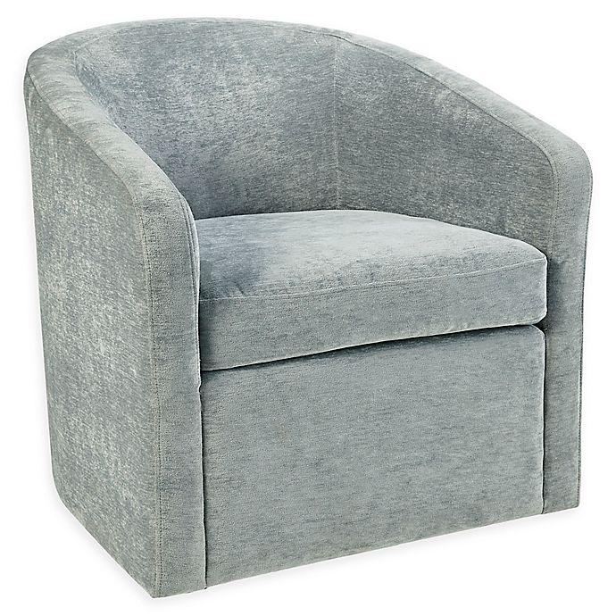 Wondrous Martha Stewart Amber Swivel Chair In Light Blue Bed Bath Machost Co Dining Chair Design Ideas Machostcouk