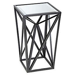 Madison Park Zee Angular Mirror Accent Table in Iron