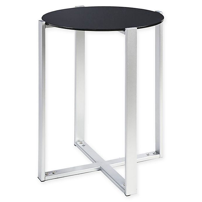Alternate image 1 for Martha Stewart Frida Accent Table in Silver