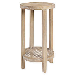 Martha Stewart Harley Round Accent Table in Reclaimed Wheat