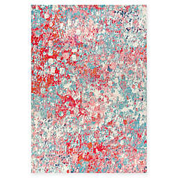 JONATHAN Y Contemporary Pop Modern Abstract 4' x 6' Area Rug in Blue