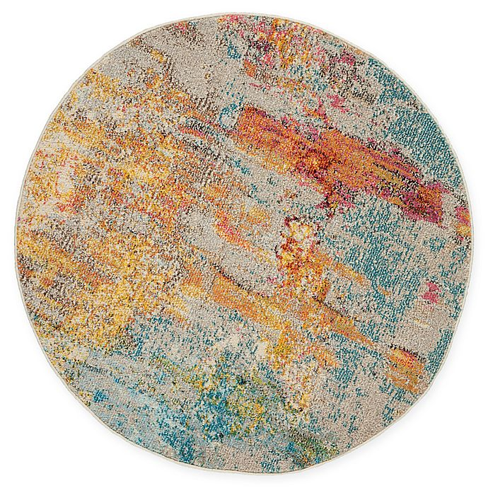 Alternate image 1 for Nourison Celestial Abstract 4' Round Area Rug in Sealife
