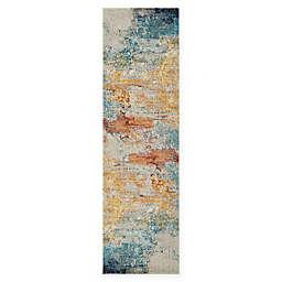 Nourison Celestial Abstract 2' x 6' Runner in Sealife