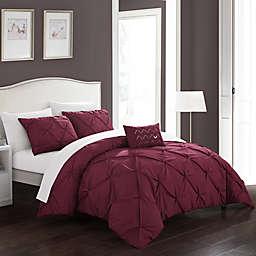 Chic Home© Weber 4-Piece Queen Comforter Set in Burgundy