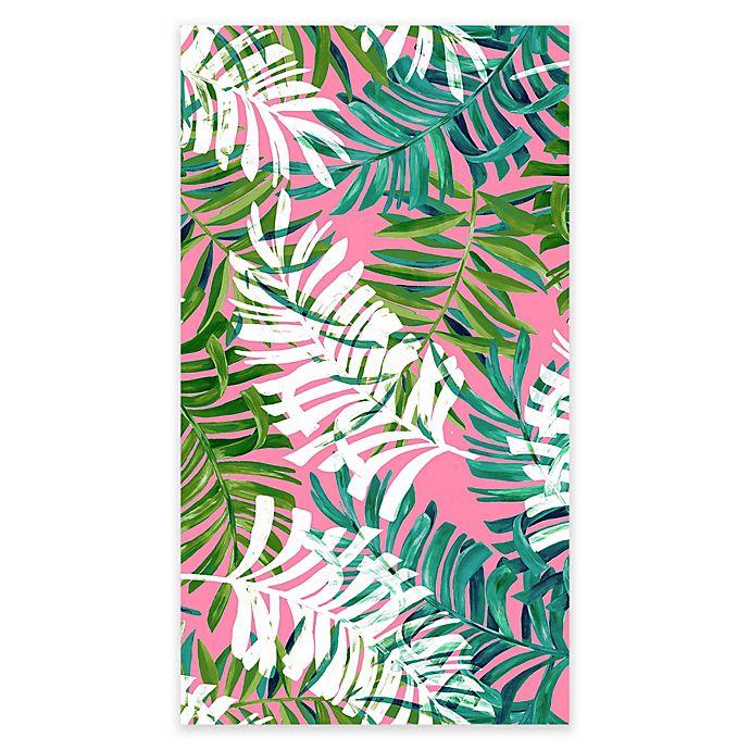 Alternate image 1 for Destination Summer Tropical Leaves Beach Towel