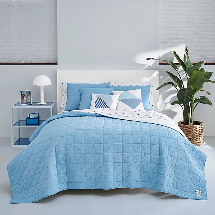 Alternate image 1 for Now House by Jonathan Adler™ Marcel Full/Queen Quilt Set in Bright Blue