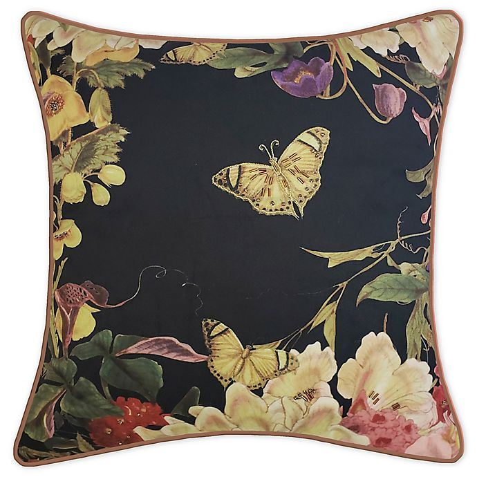 Alternate image 1 for New York Botanical Garden® Floral Butterfly Square Throw Pillow