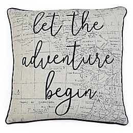 Lariss Adventure Square Throw Pillow in Indigo