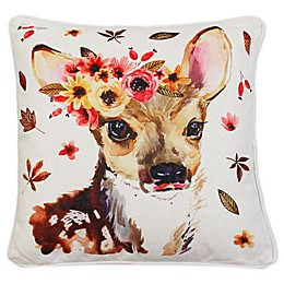 Wintorp Deer Square Throw Pillow in Natural