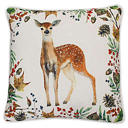 Thro By Marlo Lorenz Dahrma Deer Square Throw Pillow in Natural